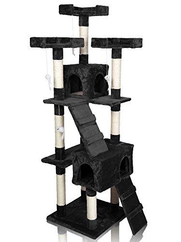 DIVA-PET-1-5-Kratzbaum-Baum-fr-Katzen-Kletterbaum-Katzenbaum-Katzenkratzbaum-Farben002-CAT608-Schwarz