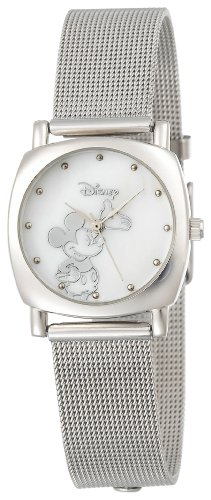 Disney Women's MK2010 Mickey Mouse Silver-Tone Mesh Strap Watch