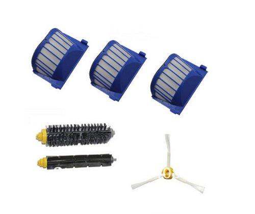 Cimc Llc Aero Vac Filter + Brush 3 Armed Kit For Irobot Roomba 600 Series 620 630 650 660 front-598322