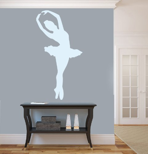 Housewares Vinyl Decal Girl Ballerin Home Wall Art Decor Removable Stylish Sticker Mural Unique Design For Room Ballet Dance Studio front-570289