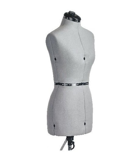 FAMILY DRESSFORM FM-L Family Large Adjustable Mannequin Dress Form Grey (Dress Forms For Sewing Large compare prices)