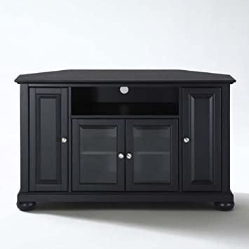 Crosley Furniture Alexandria 48-Inch Corner TV Stand, Black