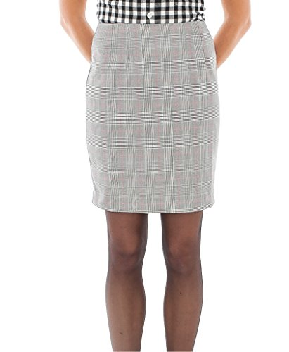 Womens Check Fitted Pencil Skirt for 60S, Mod, Ska style