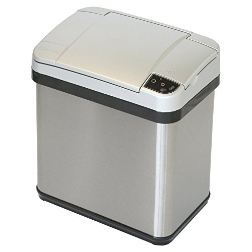 iTouchless Stainless Steel Multifunction Sensor Trash Can, 2-Gallon, Silver (Wine Barrel Garbage Can compare prices)