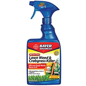 Bayer Advanced 704125A All-In-One Lawn Weed and Crabgrass Killer Ready-to-Use, 24-Ounces (Not Sold in HI)