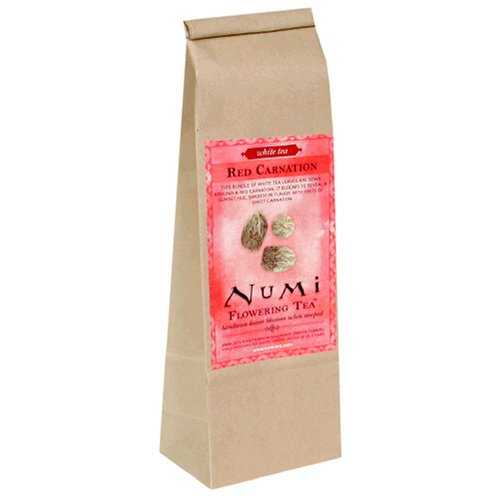 Buy Numi Tea Red Carnation, Flowering Loose Tea, 8-Ounce Bag (Numi, Health & Personal Care, Products, Food & Snacks, Beverages, Tea, White Teas, Loose Tea)