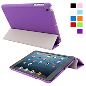 Snugg iPad Mini Ultra Thin Smart Case in Purple - Flip Stand Cover with Auto Wake and Sleep for Apple iPad Mini