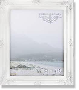 MyFrameStore No.635 Solid Wood Picture Photo/Diploma/Poster Frame, 8 by 10-Inch, White