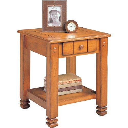 Altra Furniture Rustic Shaker End Table, 19-7/10 inch W x 20 inch D x 23-1/2 inch H, Oak