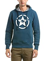 Hot Buttered Sudadera con Capucha Circle Star (Azul)