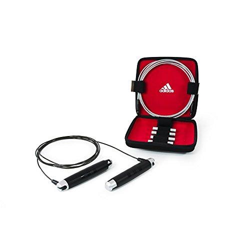 Adidas ADRP-11012 Corda per Saltare Con Custodia, Nero