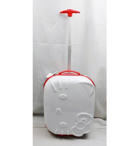 Hello-Kitty-ABS-Molded-Luggage-with-Embossing-Hard-Case-High-Quality-By-Sanrio-White