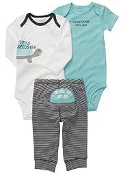 Carter\'s Baby Boys\' 3 Pc Turn Me Around Set - Blue Turtle - Newborn