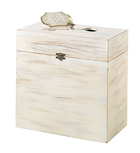 Lillian Rose Wooden Key Card Box, 10 x 10 x 5.25