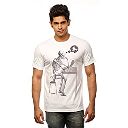 Huetrap Men's Lost in Thought White T shirt