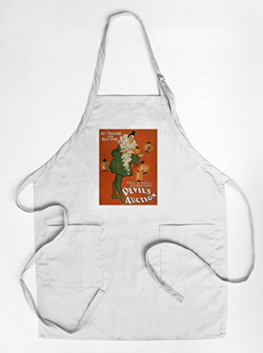 [Devil's Auction Woman in Costume Theatre Poster #4 (Quality Cotton/Polyester Chef's Apron)] (Theatre Quality Costumes)