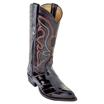 New Men's J-Toe Genuine Eel Leather Los Altos Western/Cowboy Boots