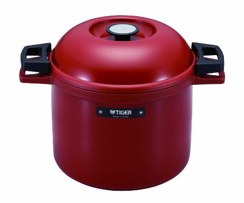 TIGER NFH-G450 Non-Electric Thermal Slow Cooker 4.75qts / 4.5L, Red (Magic Cooker compare prices)