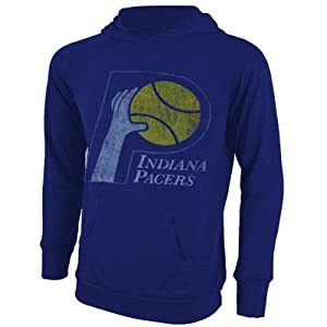 Indiana Pacers NBA Hardwood Classic Hacci Slub Hooded T-Shirt M by Majestic Threads