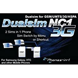 NC1 Digital Dualsim Adapter Card 3G for Samsung Galaxy S2 No Cut