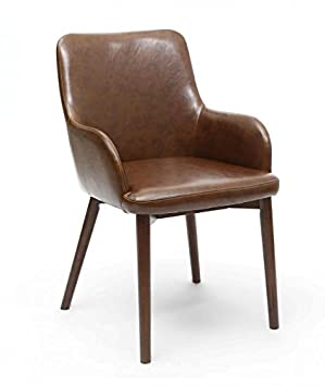 Shankar NEW Sidcup Vintage Brown Leather Match Chair