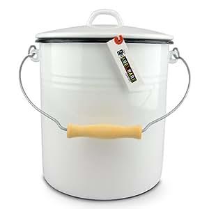 emaille eimer 12 liter mit deckel the enamelware company. Black Bedroom Furniture Sets. Home Design Ideas