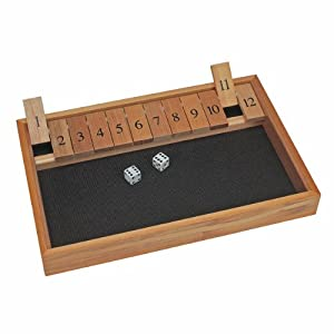 Deluxe Wood Shut the Box Game - 12 Numbers