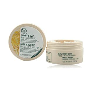 The Body Shop Honey & Oat 3-in-1 Scrub Mask, 3.6 Ounce from The Body Shop