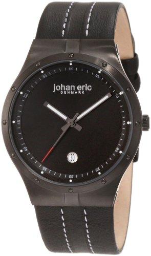 Johan Eric JE3004-13-007 - Reloj analógico de cuarzo para hombre con correa de piel, color negro