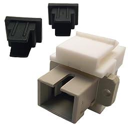 Shaxon BM303WSC-B, Simplex SC to SC Fiber Optic Keystone Feed Through Coupler - White