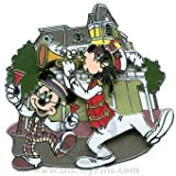 Disney Pins - Scoop and Friends - Scoop and Band Leader - Mickey and Goofy - LE - 69865