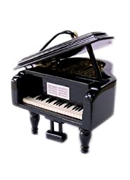 MusicBox Kingdom 21009 Small Wooden Piano Music Box, Plays The Melody \
