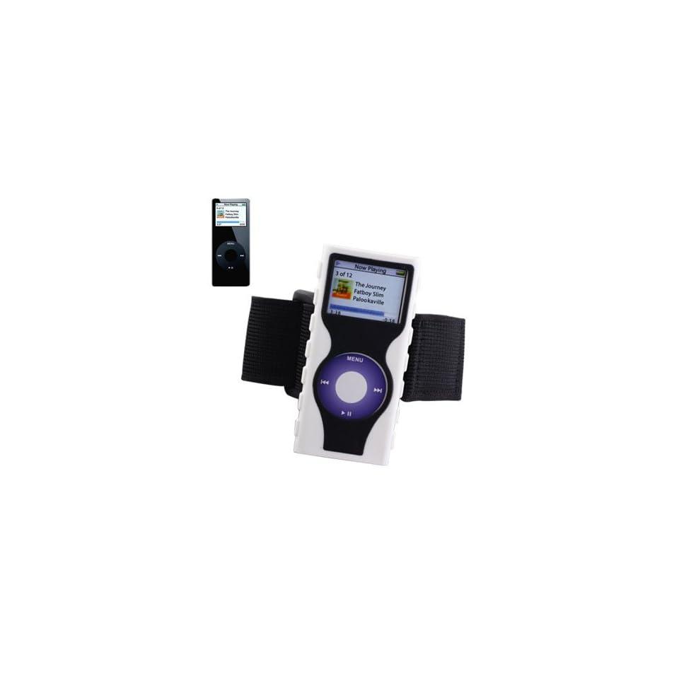 Reiko Wireless IPSC003 NANO2WHBK Silicon Case IPSC003 for Ipod Nano2   White and Black