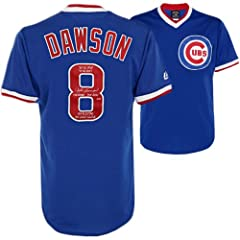 Andre Dawson Chicago Cubs Autographed Cooperstown Collection Blue Jersey with... by Sports Memorabilia