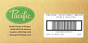 Pacific Natural Foods Organic Vegetable Broth, 8-Ounce Pouches (Pack of 24)