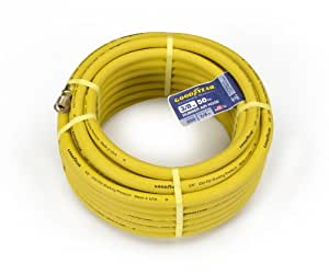 Goodyear EP 46502 3/8-Inch by 50-Feet 250 PSI Rubber Air Hose with 1/4-Inch MNPT Ends