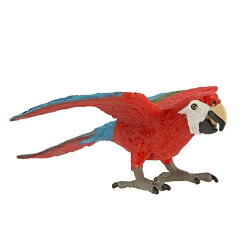 Safari Ltd Wings of the World - Green-Winged Macaw - Realistic Hand Painted Toy Figurine Model - Quality Construction from Safe and BPA Free Materials - For Ages 3 and Up