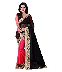 My online Shoppy Georgette Saree (My online Shoppy_154_Black)
