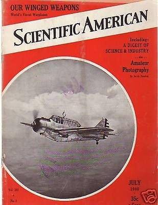 1940 Scientific American July-Sandia Man; Pluto; X-Rays