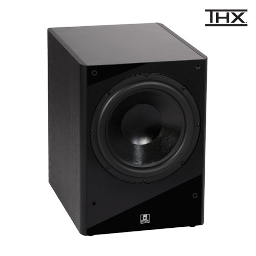 "Crystal Acoustics Award Winning Thx® Select Certified 12"" Subwoofer For Powerful And Dynamic Sound -Black Gloss/Black Ash"
