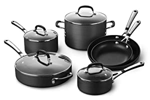 Simply Calphalon SA10H Nonstick Hard-Anodized 10-Piece Cookware Set by Calphalon