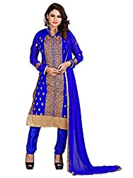 RK Exports Women's Georgette Multi Color Unstitched Dress Material