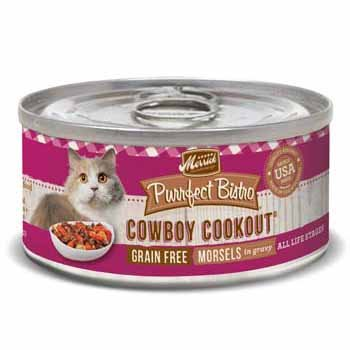 Merrick Purrfect Bistro Grain Free Cowboy Cookout Canned Cat Food, 5.5 Oz., Case Of 24