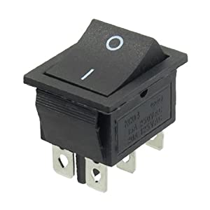 AC 250V/15A 125V/20A 6 Pin Double Pole Double Throw Rocker Switch