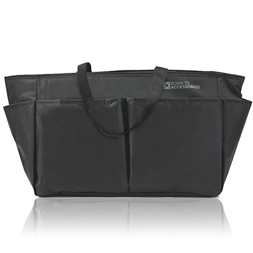 Premium Tote Organizer - Perfect Purse Organizer to Keep Everything Neat in Style (BLK-M) (Pocketbook Polish compare prices)