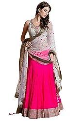 Styleon Women's Net Lehenga Cholis (Sexy Lady Pink Lehenga_Pink0)