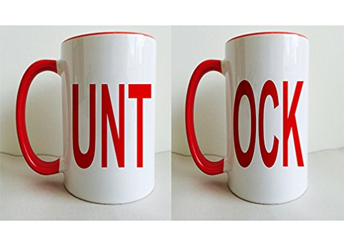 Funny His/Hers UNT and OCK with Red Handles and Tops 11 Ounce Coffee/tea Mug