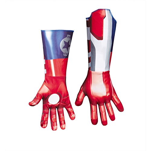 Iron Patriot Deluxe Adult Gloves Adult Costume Accessory - One Size