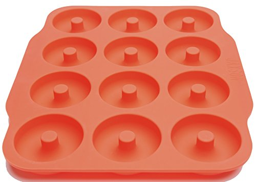 Jaxson Home Goods Non Stick Silicone Bagel Large 12 Donut Mold Pan with Recipes (Babycakes Flip Cake Pop Maker compare prices)