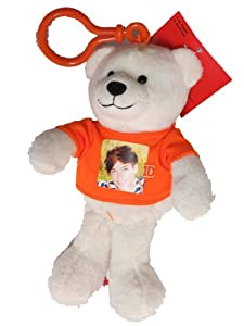 One Direction 6-in Collectible Bear Keychain Clip - Louis - Orange - 1D